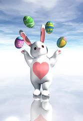 easter bunny juggling