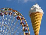 ferris wheel and ice cream cone poster