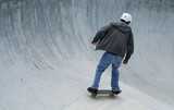 skateboarder with room for copy space poster