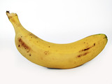 banana on white background poster