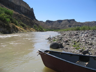 canoë sur le rio grande