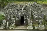 elephant cave, bali poster