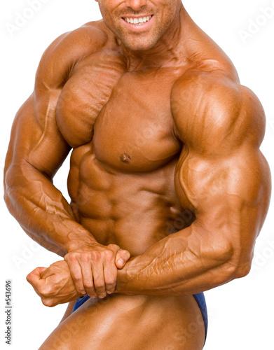 bodybuilder isolated