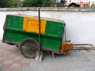 chinese cart for garbage