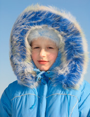 winter portrait of young girl