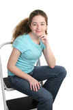 relaxed teen in t-shirt poster