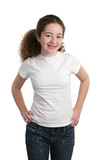 teen in blank t-shirt poster