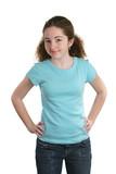 teen models blue shirt poster