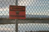 no trespassing warning sign poster