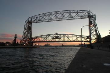 sunset in duluth