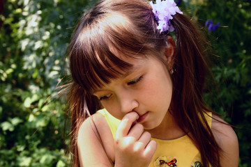 thoughtful girl