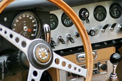 In de dag Vintage cars tableau de bord