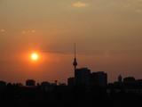 berlin skyline silhouette poster