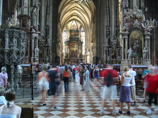 tourists vienna cathedral