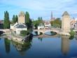 strasbourg canal bridge reflection