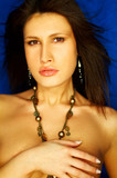 sexy brunette portrait poster