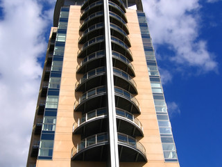 modern apartment building in manchester