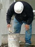 man working, stucco poster