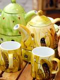 tea pots and mugs poster