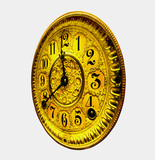 clock face rotated left poster