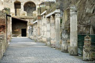 herculaneum excavations, naples, italy