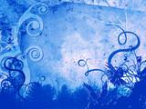 foliage - blue poster