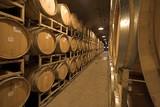 wine barrells poster