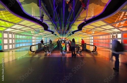 Leinwanddruck Bild futuristic walkway