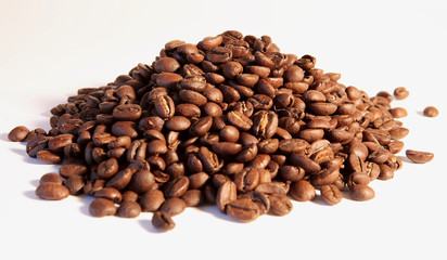 grains de café, kaffeebohnen