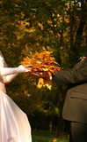 bouquet from yellow leaves poster