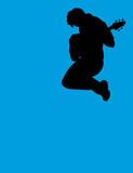 jumping guitar player poster