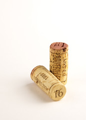 two wine corks