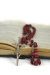 rosary with bible