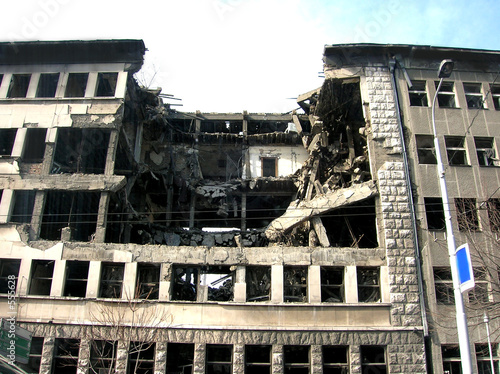 building after bombing
