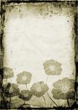 floral grunge poster