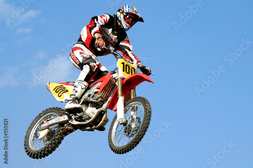 red motocross in the sky