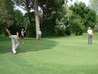groupe de golfeurs