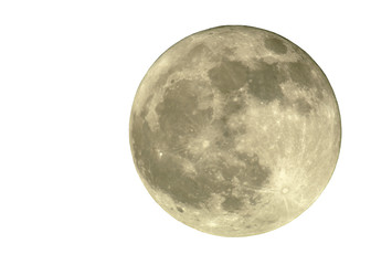 2400mm full moon, isolated