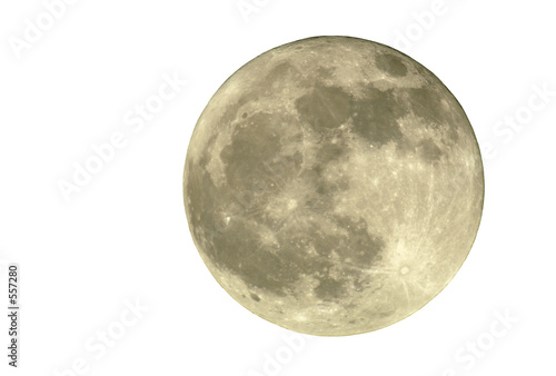 Leinwanddruck Bild 2400mm full moon, isolated