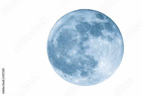 2400mm blue full  moon, isolated - 557281