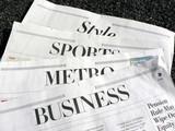 Fototapety newspaper - newspaper sections