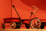 Toy wagon with tricycle poster