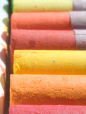 pastels: orange and yellow poster