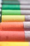 pastels: orange, yellow, green, red poster