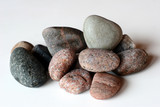 ocean stones on isolated background