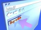 3d browser - buy online poster
