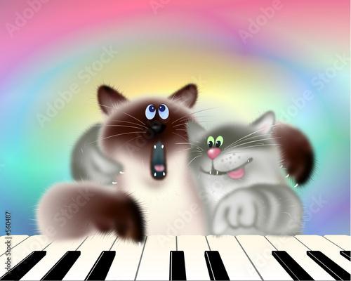dwa-koty-grajace-na-fortepianie