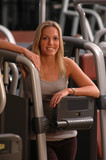 atrtractive woman in gym poster