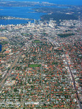 perth city aerial view 1 poster