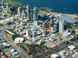 perth city aerial view 2 poster